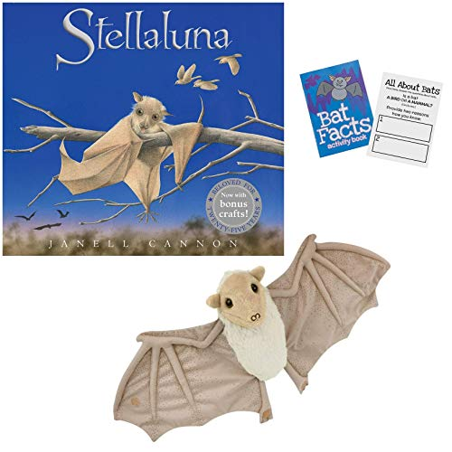 Stellaluna Special Edition Hardcover by Janell Cannon , Stellaluna Plush Doll , Activity Booklet and Downloadable Crafts with Activity Kit Gift Set