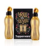 Tupperware Aquasafe Water Bottle 750 ml Gold 2 pcs