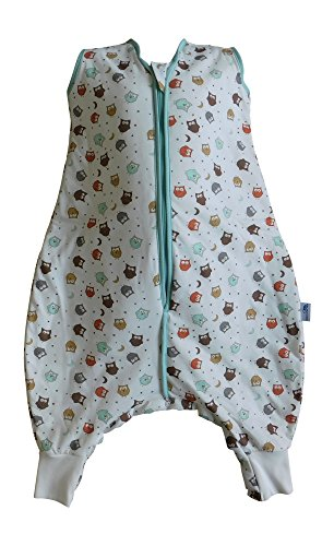 Produktbild Schlummersack Schlafsack mit Füssen leicht gefüttert für den Sommer in 1.0 Tog - Eule - 80 cm