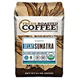 Fresh Roasted Coffee LLC, Organic Sumatra Swiss Water Decaf Coffee, Medium Roast, Whole Bean, 2 Pound Bag