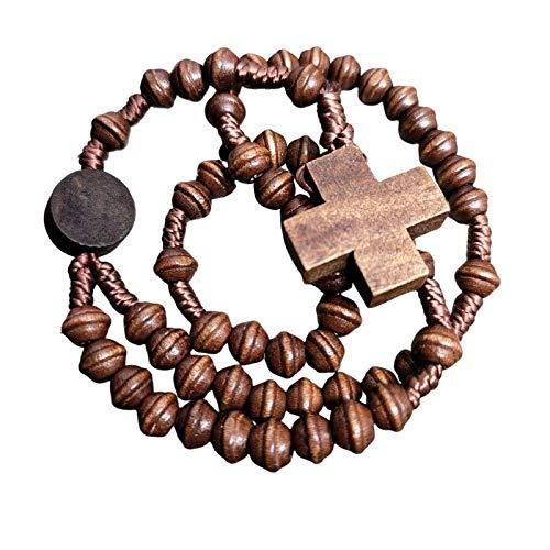 Simple Living Wood Catholic Rosary - Rugged Rosary