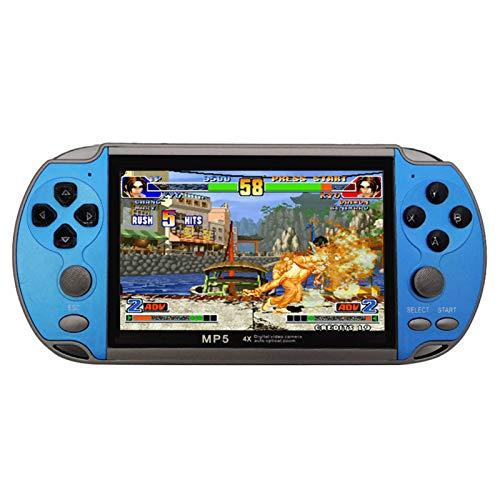 JINQII X7 Console de Jogo Portátil de 4,3 Polegadas Consola Nostalgic Dual-Shake Game Console 8G Jogos Embutidos 6000, Apoio GBC/GBA/FC/MD/Arcade/NES/CPS/SFC Games