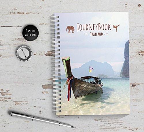 Reisetagebuch Thailand zum selberschreiben/als Abschiedsgeschenk - DIN A5 mit interaktiven Aufgaben und Challenges und Reise-Zitaten