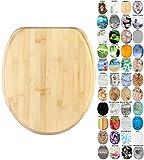 Sanilo WC-Sitz mit Absenkautomatik I Hochwertiger Toilettensitz aus Holz I Toilettendeckel in verschiedenen Motiven (Bambus)