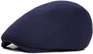 ZJSWIN Hat New Cap Ladies Spring and Autumn Winter Outdoor Forward Knit hat Men's Beret (Color : Navy)