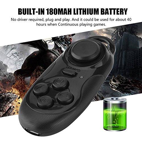 143 Bluetooth Remote Gamepad, Mini Wireless Bluetooth Remote Gamepad Gamecontroller Maus Gamepad 3D VR Brille Fernbedienung, für iOS Android Smartphone Phone TV Box