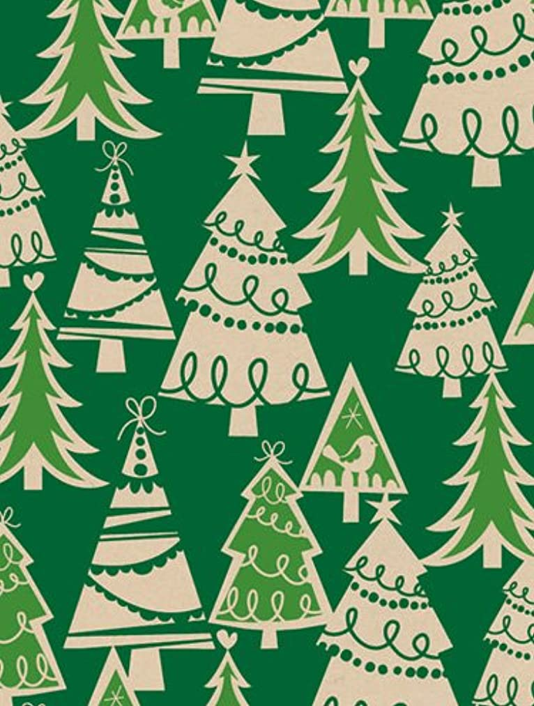 Holiday Forest Kraft Gift Wrap Roll 24