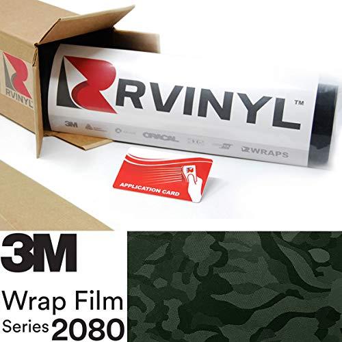 3M 2080 SB26 Shadow Military Green 5ft x 1ft W/Application Card Vinyl Vehicle Car Wrap Film Sheet Roll