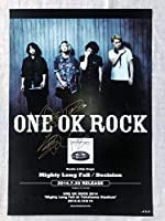 ONE ROCK Mighty Long Fall 直筆サインポスター