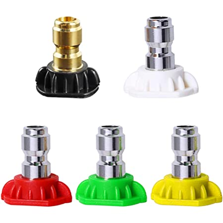 Metal HIGH PRESSURE Quick Connect Power Washer Spray Nozzle Tips Variety Degrees