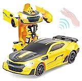 FYRMMD Hornet Rc robot 1/12 gestos transformador de inducción coche control remoto, rotación 360° danza de una sola llave, (coche de control remoto)