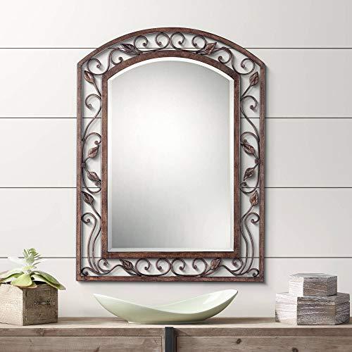 Franklin Iron Works Eden Park Bronze 25' x 34' Arch Top Wall Mirror