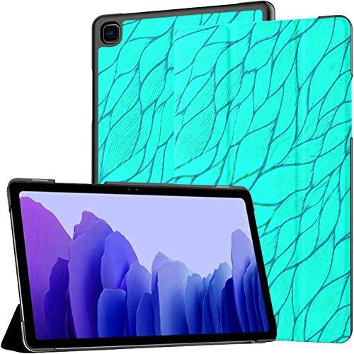 Funda para Tableta Samsung A7 Patrón sin Costuras Abstracto Dibujado a Mano Fondo de Ondas para Samsung Galaxy Tab A7 10.4 Pulgadas Funda Protectora de liberación 2020 Funda Samsung Galaxy A7 Funda p