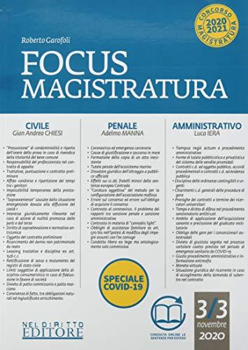 Focus magistratura. Concorso magistratura 2020: Civile, penale, amministrativo (Vol. 3)