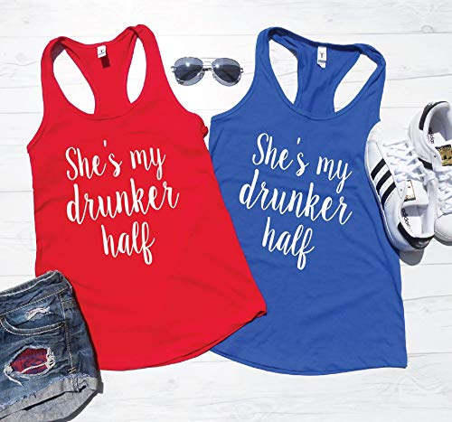 4TH of JULY TANKS | 4th of July Shirts | BFF Tanks | Drinking Tanks | Best Friend Drinking Shirts | July Fourth Shirts Tanks | Drunker Half Tanks
