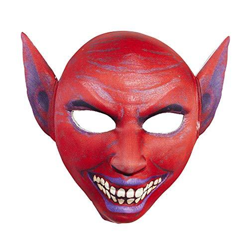 Widmann vd-wdm05706 Masque en Tissu Demi Visage Diable, Rouge, Taille Unique