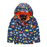 G-Kids Kinder Jungen Wasserdicht Jacke Übergangsjacke Warm Fleece Wasserdicht Winddicht Wanderjacke Outdoorjacke Regenjacke mit Kapuze 110/116