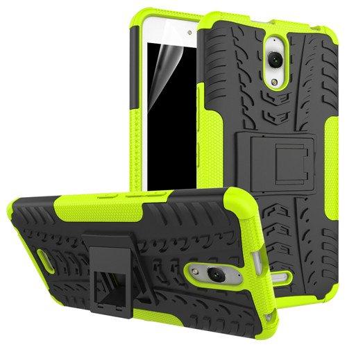 betterfon | Outdoor Handy Tasche Hybrid Case Schutz Hülle Panzer TPU Silikon Hard Cover Bumper für Alcatel Pixi 4 (6 Zoll) Grün