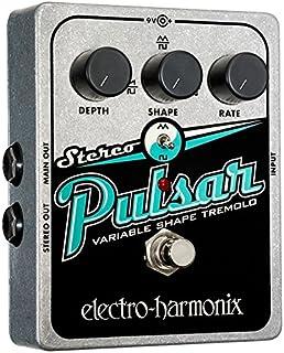 electro-harmonix Stereo Pulsar Stereo Pulsar Pedal - Pedal de efecto vibrato para guitarra, color plateado