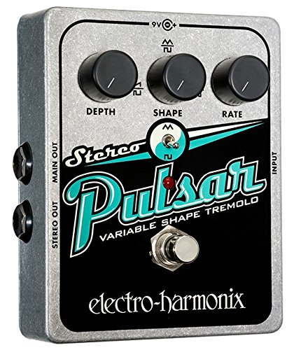 Electro Harmonix Stereo Pulsar Pedal for Electric Guitar Silver