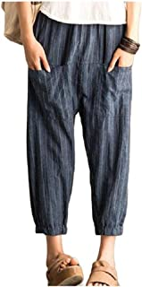 neveraway Women's High-Waisted Slant Pocket Leisure Plus Size Harem Pants