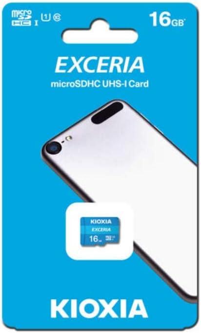 Kioxia 16GB microSD Exceria Flash Memory Card U1 R100 C10 Full HD Read 100MB/s LMEX1L016GG4