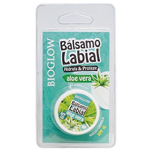 Bioglow Bálsamo Labial Aloe Vera - 7 Paquetes de 1 x 15 ml - Total: 105 ml