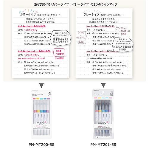 KOKUYO(コクヨ)『2ウェイカラーマーカーマークタス5本セット』