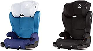 Diono Cambria 2 High-Back Children's Booster Seat - Bundle of 2 Seats: 6 Position Head-Support, 40-120 Pounds, Black & Blue