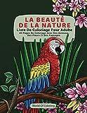 Livre De Coloriage Pour Adulte: La Beauté De La Nature, 40 Pages De Coloriage Avec Des Animaux, Des Fleurs Et Des Paysages