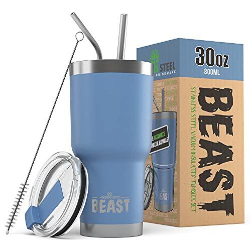 Greens Steel Beast Tumbler Stainless Steel Vacuum Insulated Coffee Ice...
