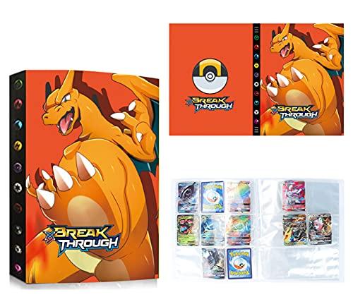 Raccoglitore Porta Carte Compatibile Con Pokemon, Album Cartella Libro Compatibile Carte Con Pokemon, 24 Pagine-9 Tasche per pagina-Possono contenere 432 carte (9H-1)