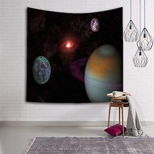 Tapiz de cielo estrellado Tela tejida Planeta Sci-Fi Galaxy Manta decorativa multicolor Manta de cielo estrellado Tapices Interior y sala de estar A1 130x150cm
