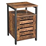 VASAGLE End Table, Nightstand with Open Shelf, Inner...