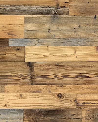 wodewa Pannelli da parete in legno di pino pino P180 I riciclati in vero legno sostenibile, decorazione da parete moderna per soggiorno, cucina