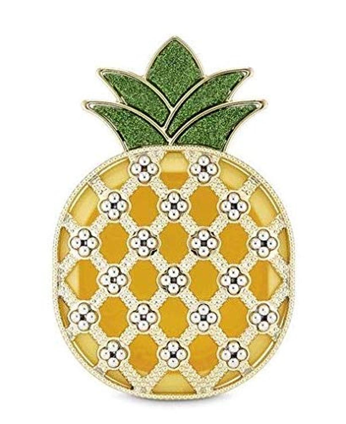 疎外する消える弁護人【Bath&Body Works/バス&ボディワークス】 クリップ式芳香剤 セントポータブル ホルダー (本体ケースのみ) シャイニーパイナップル Scentportable Holder Shiny Pineapple [並行輸入品]