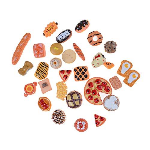 Apofly Wichtel ZubehöR, Puppenhaus ZubehöR Miniatur Puppenschmuck, Minipuppen Brot Künstliche Brot Ornament Lebensmittel Modell Pretend Spielzeug Puppenzubehör 10Pcs