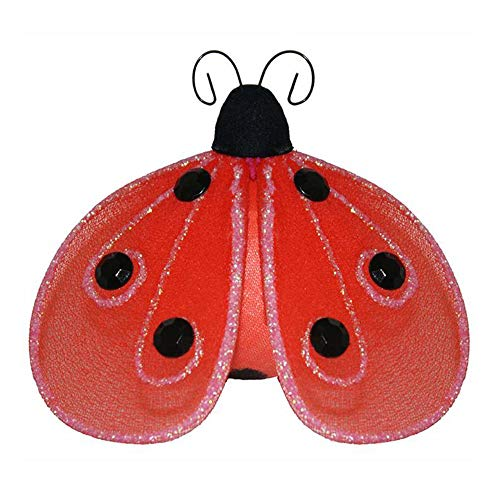 Bugs-n-Blooms Nylon Hanging Ladybug Decorations Shimmer Mesh Lady Bug Decor for Girls Bedroom, Baby Nursery, Home, Playroom, Wedding, Wall & Ceiling (Small 4', Red)