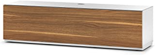 SONOROUS Studio ST-160B Wood and Glass TV Stand with Hidden Wheels for Sizes up to 75