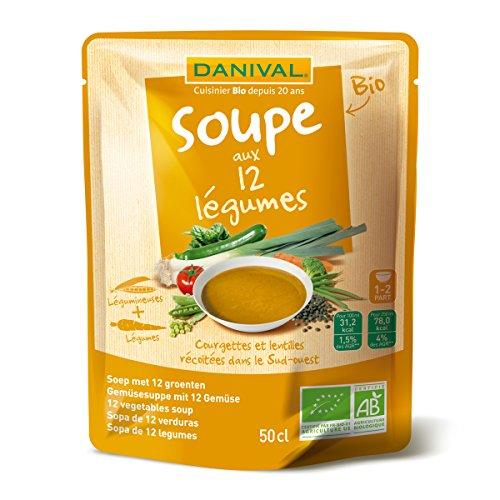 DANIVAL - Soupe bio aux 12 légumes - 50 CL