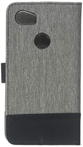 kwmobile Google Pixel 2 XL Hülle - Kunstleder Wallet Case für Google Pixel 2 XL mit Kartenfächern & Stand - Grau Schwarz