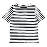 セントジェームス SAINT JAMES Tシャツ 半袖 ボーダー stj01-170808-01 NEIGE/NOIR XS [並行輸入品]