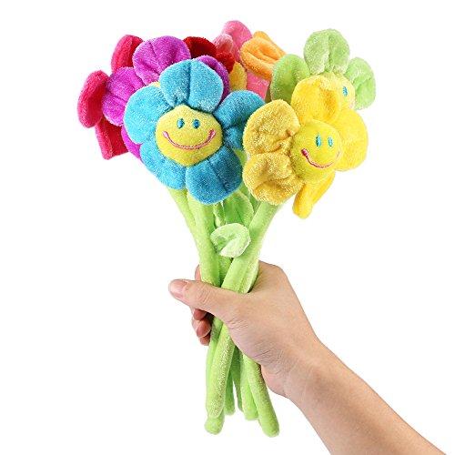 RAILONCH Juego de 8 flores artificiales de peluche, diseño