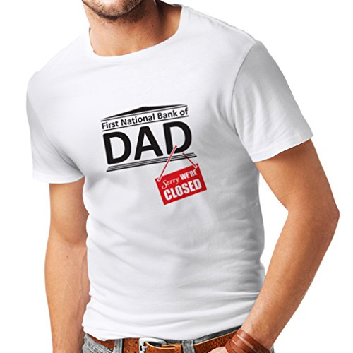 Camisetas Hombre El Regalo Divertido para el papá FNB está Cerrado Día de Padres (Medium Blanco Multicolor)