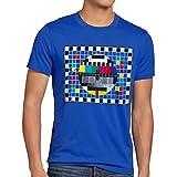 style3 Carta de Ajuste para Hombre T-Shirt televisión Sheldon TV, T-Shirt Hauptfarbe ALT:Azul;T-Shirt Größe ALT:L
