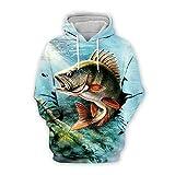 Men Women 3D Tropical Fish Printed Hoodie Long Sleeve Pullover Hooded Sweatshirts Tops Blouse K14 5XL