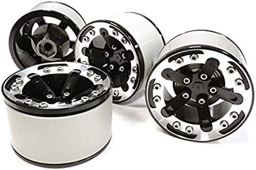 Integy RC Model Hop-ups C26131schwarz High Mass 2.2 Größe Alloy XV5 Spoke Beadlock Wheel (4) for Scale Off-Road Crawler