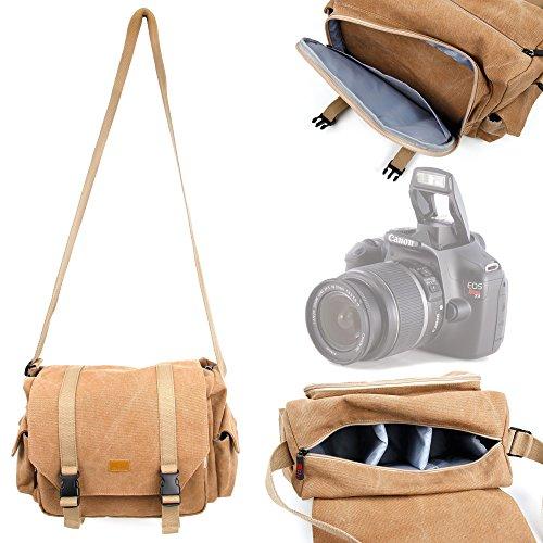 DURAGADGET Sacoche en Toile résistante Compatible avec appareils Photos Canon EOS 1Ds Mark III et Mark IV, 5D MK II/Mark III