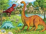 5D diamante pintura dinosaurio completo redondo diamante bordado Animal punto de cruz mosaico decoración del hogar A18 30x30cm