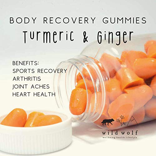 Body Recovery Gummies - Turmeric, Ginger & Black Pepper Vegan Gummies -